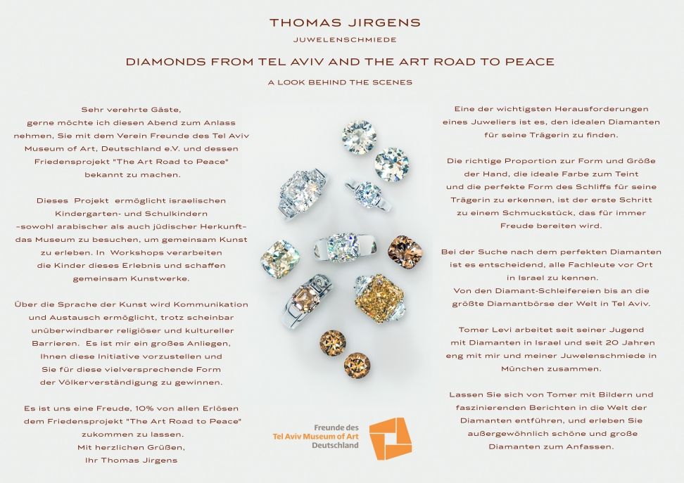 Diamonds from Tel Aviv and the Art Road to Peace