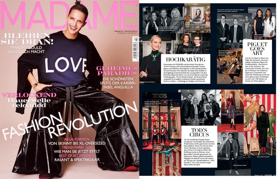 Juwelenschmiede Event kampagne Madame Printmagazine 2017 Februar THOMAS JIRGENS Juwelier am Kosttor 1 München